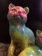 Cats Acrylic Sculpture Unique Sculpture by Steve Kaufman - 3