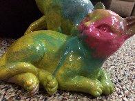 Cats Acrylic Sculpture Unique Sculpture by Steve Kaufman - 6