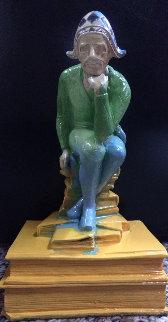 Jester Acrylic  Sculpture Unique 8 in  Sculpture by Steve Kaufman