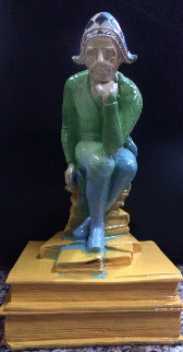Jester Acrylic  Sculpture Unique 8 in  Sculpture - Steve Kaufman