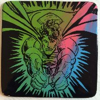 Superman  Ceramic Plate Unique Other by Steve Kaufman - 1