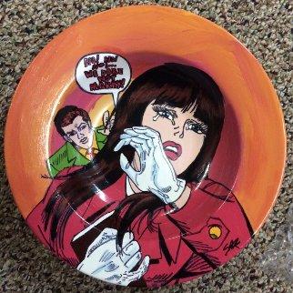 Lichtenstein Crying Girl Ceramic Bowl Other - Steve Kaufman