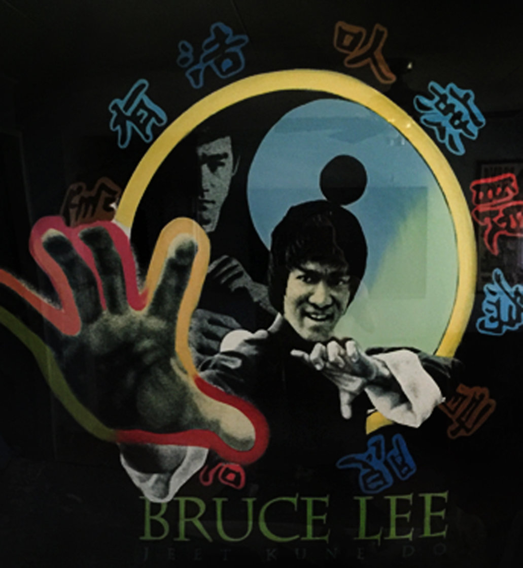 Bruce Lee 52x52 Huge Original Painting by Steve Kaufman
