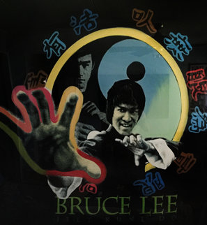 Bruce Lee 52x52 Super Huge Original Painting - Steve Kaufman