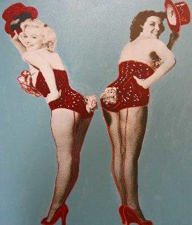 Marilyn Monroe/Jane Russell: Gentlemen Prefer Blondes Unique 45x35 Original Painting - Steve Kaufman