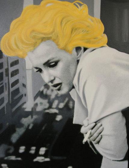 Marilyn Monroe- 5th Ave Nyc 48x38 Original Painting by Steve Kaufman