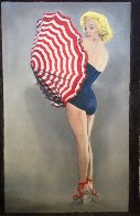 Marilyn With Umbrella 2009 56x34 Super Huge Limited Edition Print by Steve Kaufman - 1