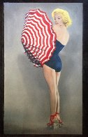 Marilyn With Umbrella 2009 56x34 Huge Limited Edition Print by Steve Kaufman - 2
