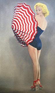 Marilyn With Umbrella 2009 56x34 Huge Limited Edition Print - Steve Kaufman