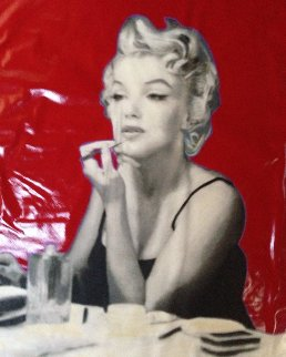 Marilyn Putting on Makeup 2007 46x46 Original Painting - Steve Kaufman