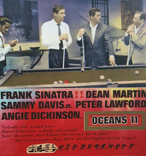 Oceans 11  Embellished Limited Edition Print by Steve Kaufman