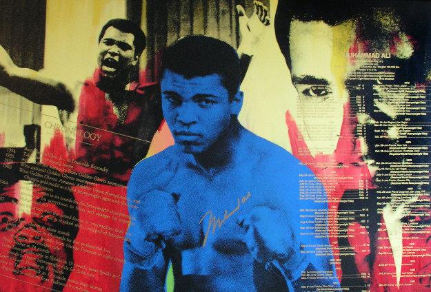 Greatest -  Muhammad Ali Embellished 1996 Limited Edition Print by Steve Kaufman
