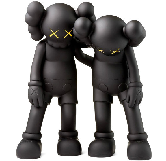 Along the Way Vinyl Sculpture 2018 12 in - Set of 2  11 in Sculpture by  KAWS