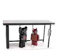 Kaws X Kubrick Set 1 Bus Stop - Bearbrick Medicom Vinyl Sculpture (Purple) 8 in Sculpture by  KAWS - 1