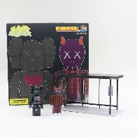 Kaws X Kubrick Set 1 Bus Stop - Bearbrick Medicom Vinyl Sculpture (Purple) 8 in Sculpture by  KAWS - 2