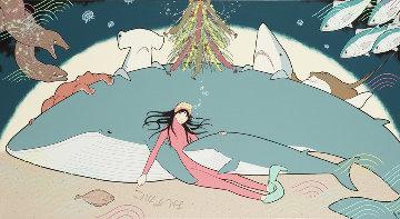Oshizukani (Quiet Please) 22x44 Original Painting - Yumiko Kayuawa