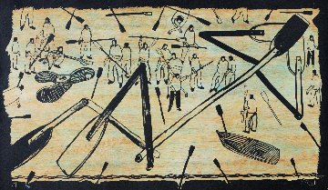 Untitled Woodcut 2008 Limited Edition Print by Kcho