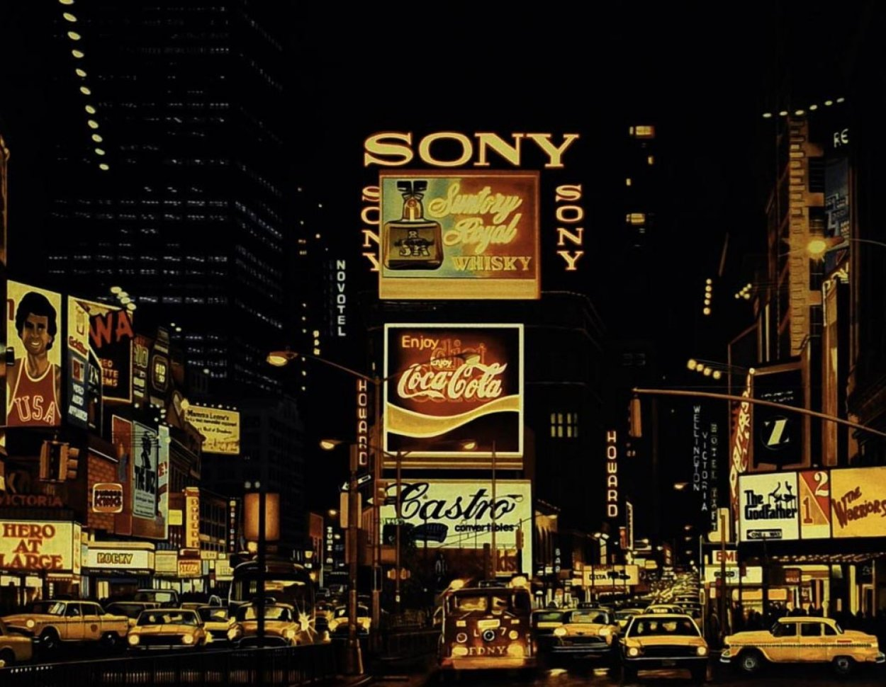 Times Square Change Scene 1995 Limited Edition Print by Ken Keeley