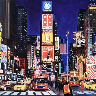 Times Square At Night AP Limited Edition Print by Ken Keeley