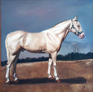 American Cream 49x49 Original Painting - Ken Keeley