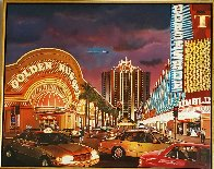 Untitled Las Vegas Cityscape 1995 50x62 Original Painting by Ken Keeley - 1