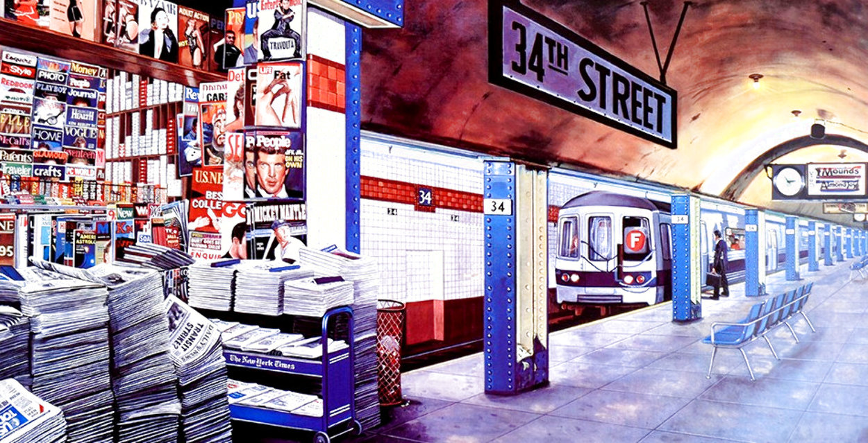 My Underground: 34th St Station Limited Edition Print by Ken Keeley