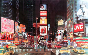 Times Square Night, New York Limited Edition Print by Ken Keeley