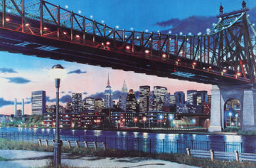 59th Street Bridge, New York 43x57 Super Huge Limited Edition Print - Ken Keeley
