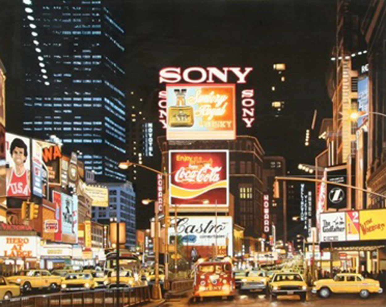Times Square 1995 Limited Edition Print by Ken Keeley