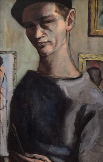 Artist As a Young Man 1965 15x33 Original Painting by Margaret D. H. Keane