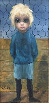 Umpire (Big Eyes) Original Painting - Margaret D. H. Keane