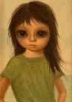 Little Sister 1966 14x10 Original Painting - Margaret D. H. Keane