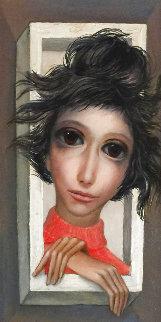Break Thru 1962 15x12  Big Eyes) Original Painting - Margaret D. H. Keane