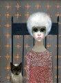 Girl With Siamese Cat 1962 (Big Eyes) Original Painting - Margaret D. H. Keane