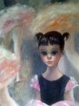 Ballerina (Big Eyes) 28x22 Original Painting - Margaret D. H. Keane