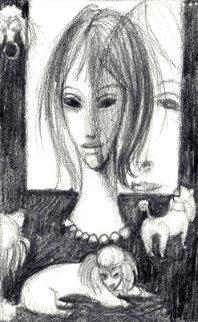 Margaret Keane - Red Skelton - A Collection of Seven Drawings 1960 (Big Eyes) Works on Paper (not prints) by Margaret D. H. Keane