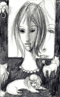 Margaret Keane - Red Skelton - A Collection of Seven Drawings 1960 (Big Eyes) Works on Paper (not prints) - Margaret D. H. Keane