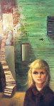 Growing Up 1961 24x38 (Big Eyes) Original Painting - Margaret D. H. Keane