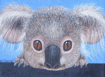 Koala Express 1977 14x18 Original Painting - Margaret D. H. Keane