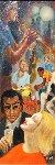 Lonely Sixties 1960 15x33 Original Painting - Margaret D. H. Keane