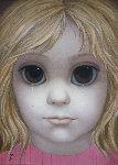 Little Girl, Iconic Waif 27x34 (Big Eyes) Original Painting - Margaret D. H. Keane