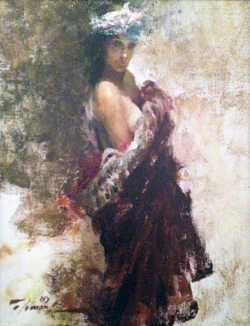 Nora in Turban 1998 12x10 Original Painting by Ramon Kelley