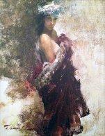 Nora in Turban 1998 12x10 Original Painting by Ramon Kelley - 0
