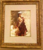 Nora in Turban 1998 12x10 Original Painting by Ramon Kelley - 1