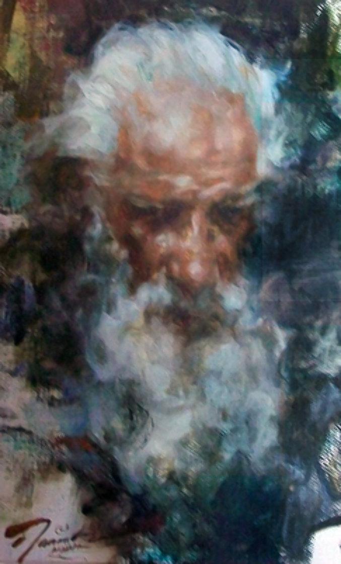 Senor Pedro, Taos 21x17 Original Painting by Ramon Kelley