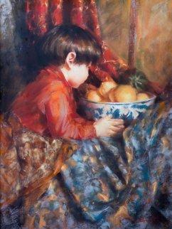 Little Adam 1968 24x18 Original Painting by Ramon Kelley