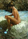 Shadows of Blue and Gold Nude 1984 30x35 Original Painting by Ramon Kelley - 0