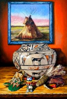 Native Treasures 2013 45x24 Huge Original Painting - Carol Kelley