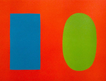 Blue And Green Over Orange 1964 Limited Edition Print by Ellsworth Kelly