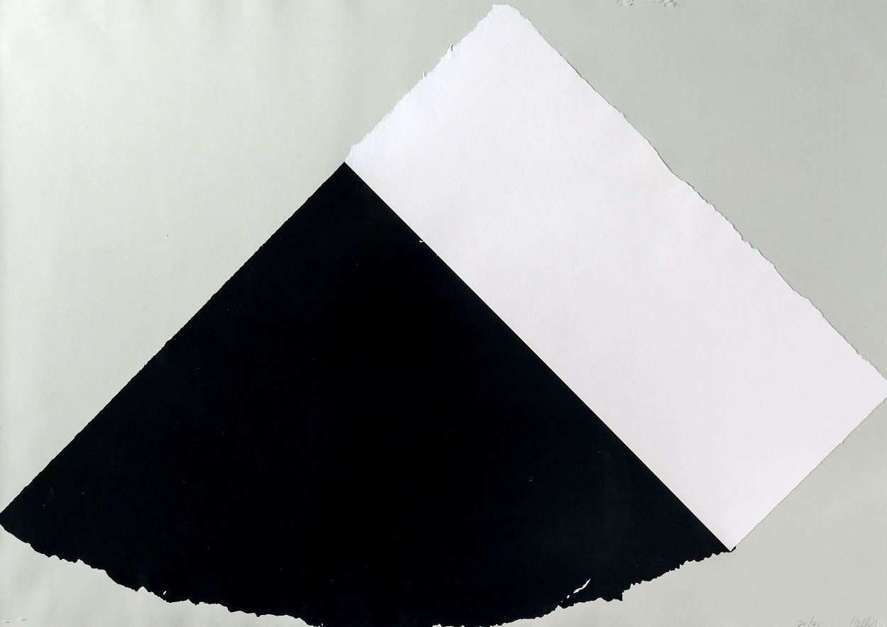 Dark Gray and White 1977 Limited Edition Print by Ellsworth Kelly
